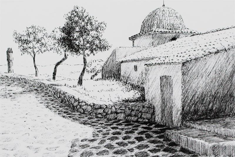 Apunte de Castalla | Tinta | José Cerezo