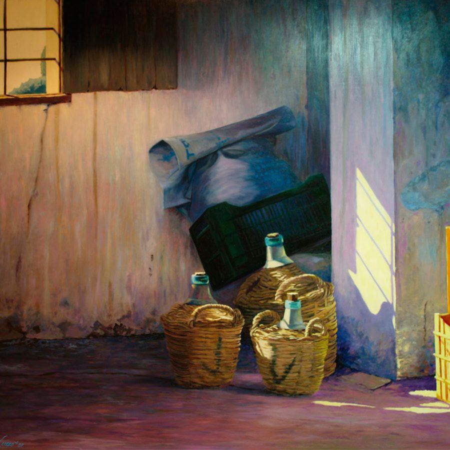 Domingo en casa de Nerea | Óleo sobre tabla | José Cerezo