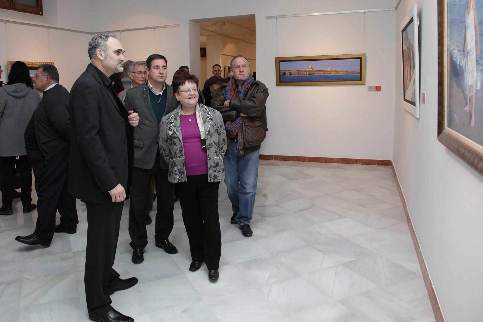 Exposicion-Diputación-de-Alicante,-Esbozos-del-Alma,-José-Cerezo,alcaldesa-de-san-vicente