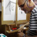 Jose-Cerezo-pintando-un-cuadro