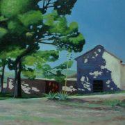 Debajo de la sombra | Óleo sobre tabla | José Cerezo