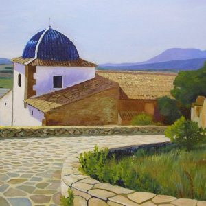 Ermita de Castalla | Óleo sobre tabla | José Cerezo