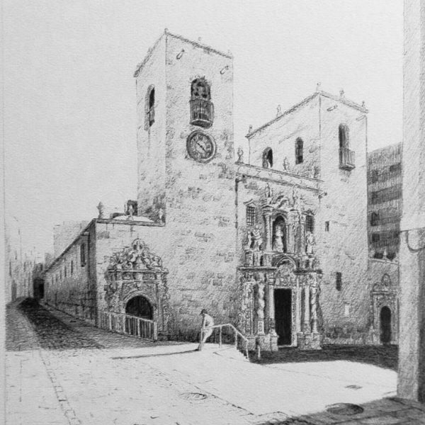 Santa María | Litografía | José Cerezo