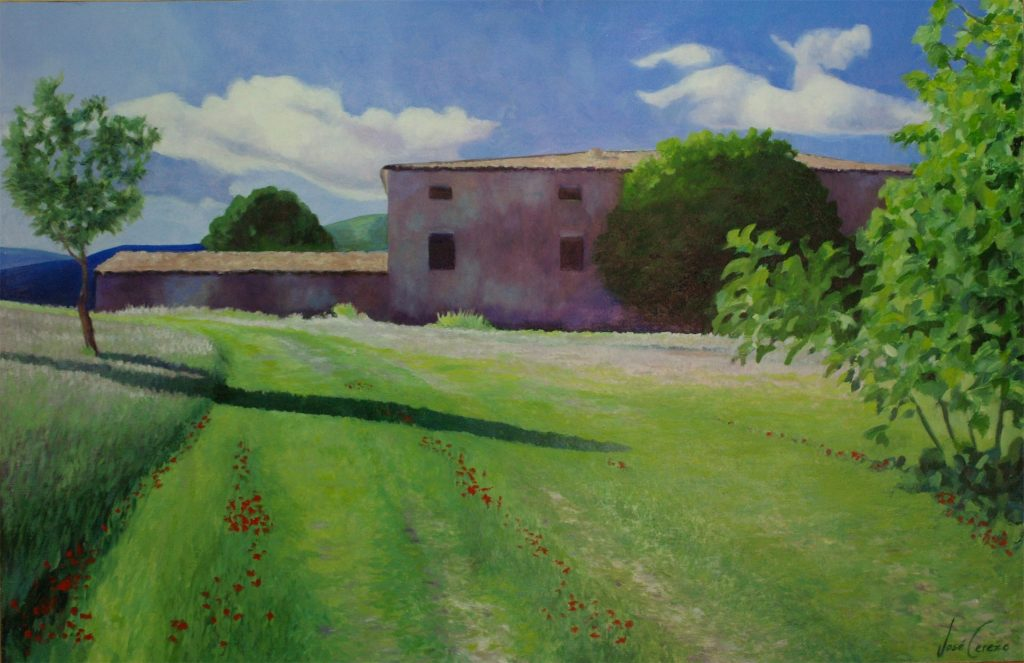 Paisaje de Castalla| Óleo Sobre Tabla| José Cerezo