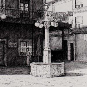 Plaza de España | Tinta con pluma | José Cerezo