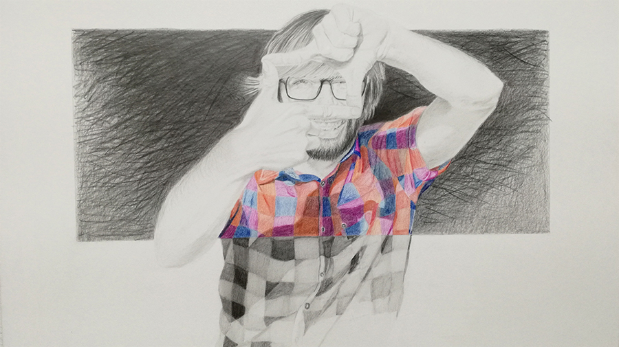 David Valero Grafito realizado por José Cerezo
